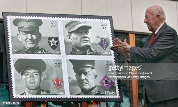 MARINE_STAMP_094_fljpg US Postal Service is releasing the Distinguished Marine Stamps on the Marine CorpsÍ 230th Birthday on Union Square San...