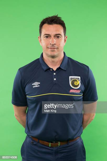 Mariners head coach Paul Okon poses during the Central Coast Mariners 2017/18 ALeague headshots session at Fox Sports Studios on September 25 2017 in...