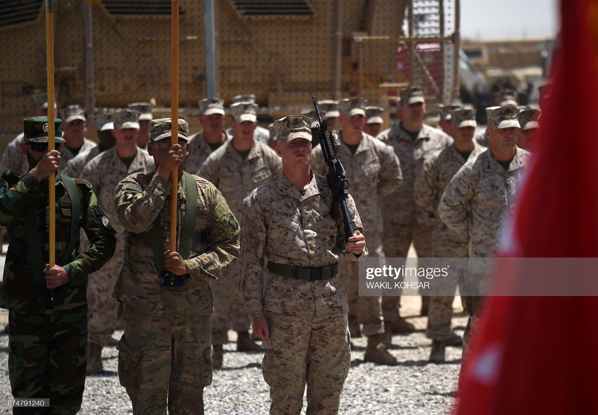 AFGHANISTAN-US-UNREST-MILITARY-HELMAND-MARINES : Nachrichtenfoto