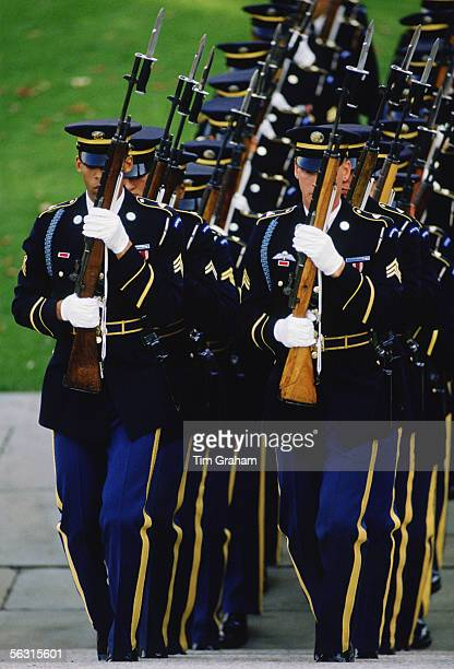 Marines at Arlington National Cemetery in Washington DC United States of America