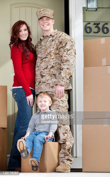 U S Marines & Family Moving into New Home