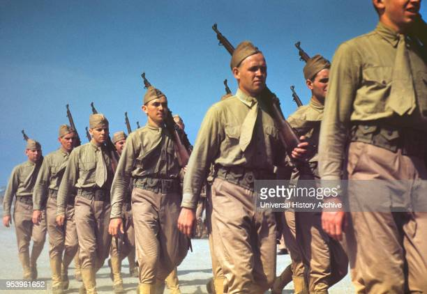 Marines Finishing Training during World War II Parris Island South Carolina USA Alfred T Palmer for Office of War Information May 1942
