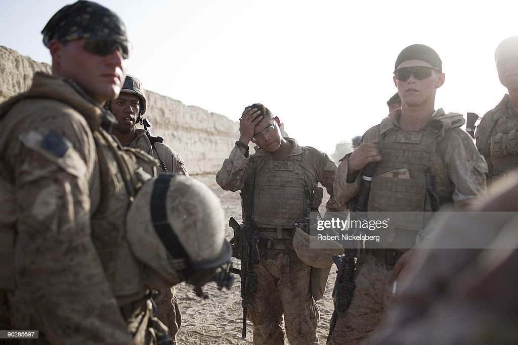 US Marines In Khan Neshin : News Photo