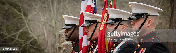 marines honor guard at montpellier - honor guard stock pictures, royalty-free photos & images