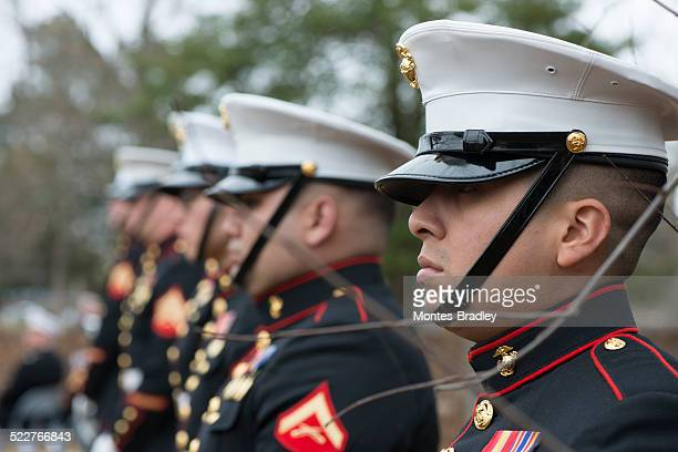 marines honor guard at montpellier - marines military stock photos and pictures