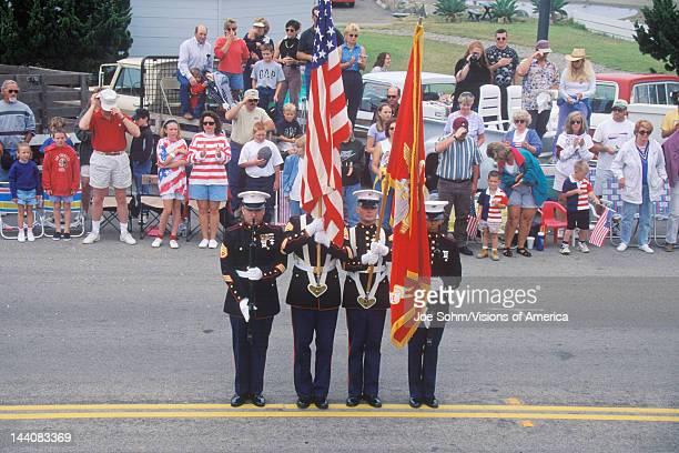 Marines in July 4th Parade, Cayucos, California