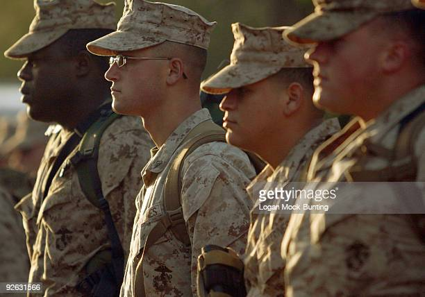 Marines in the 3rd Battalion, 10th Marine Regiment, prepare to deploy to Afghanistan in support of Operation Enduring Freedom November 3, 2009 at...