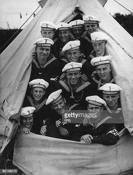 Marines of the Hitler Youth encamped at 'tent city' in Laboe during a sporting competition near Kiel June 1937