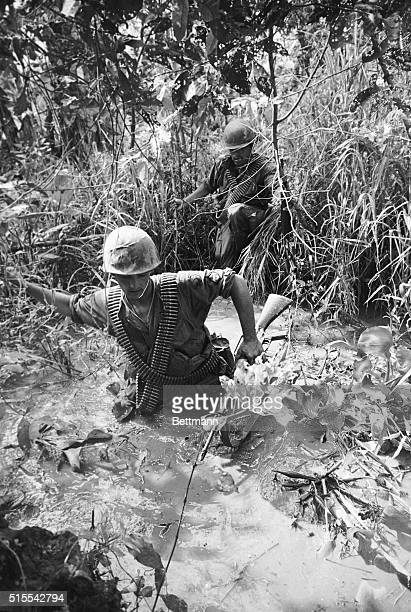 US Marines on Patrol in The Mekong Delta 1968 | Location Near Dong Tam South Vietnam