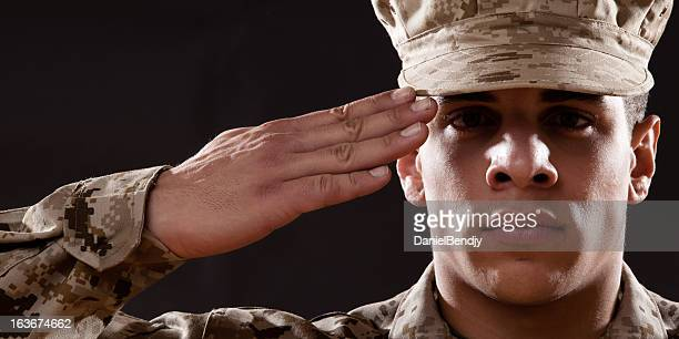 us marines portrait - marines military stock photos and pictures