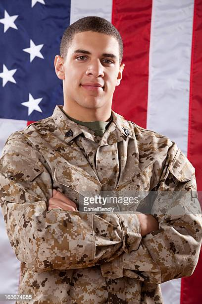 us marines portrait - marine corps flag stock pictures, royalty-free photos & images