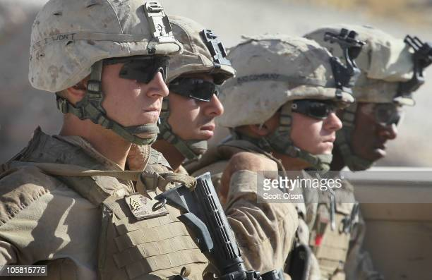 S Marines Sgt Robert Carnes of Lockport NY Cpl Vincent Garcia Jr of Pasco WA Cpl Zachary Weber of Mt Healthy OH and Cpl Courtney Brown of St...