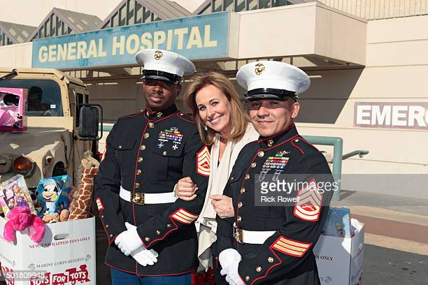 HOSPITAL Marines Toys for Tots visit the set of General Hospital on Tuesday December 8 2015 GENIE