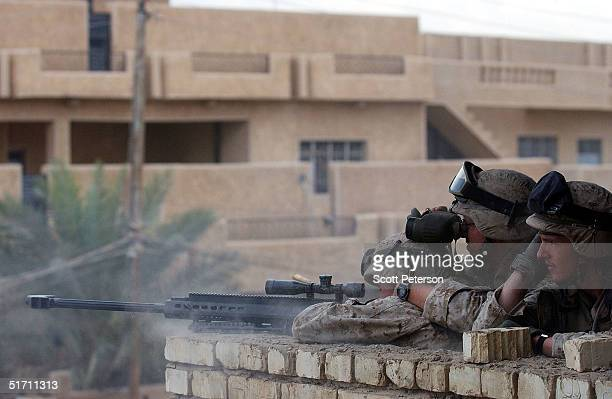 S Marines use a Sasser 50mm sniper rifle to knock the 'call to prayer' speakers off the minaret of a mosque saying that certain sermons are in fact a...