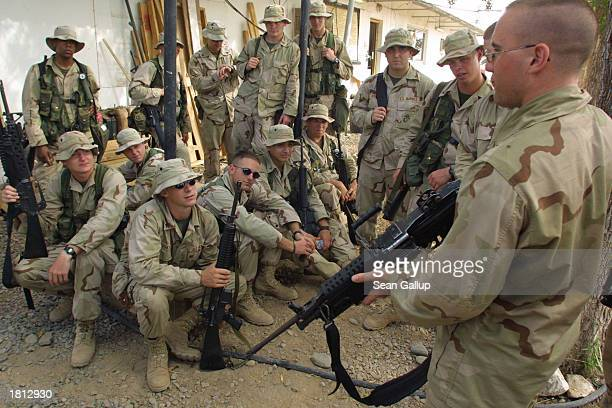 Marines with the 24th Marine Regiment undergo weapons training February 24, 2003 at Camp Lemonier in Djibouti. The U.S. Military has approximately...