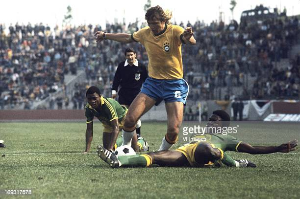 Marinho Chagas during the FIFA World Cup match between Zaire and Brazil on June 22 1974 at the Parkstadion in Gelsenkirchen Germany