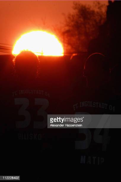 Marino Biliskov of Ingolstadt and his team mate Marvin Matip walks over the field after the ball with of Bochum during the Second Bundesliga match...