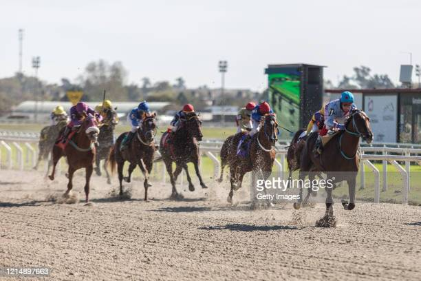 Marino Fortunate wins the third race during competition day as Uruguay slowly returns to normal due to coronavirus outbreak at Maroñas Horse Track on...