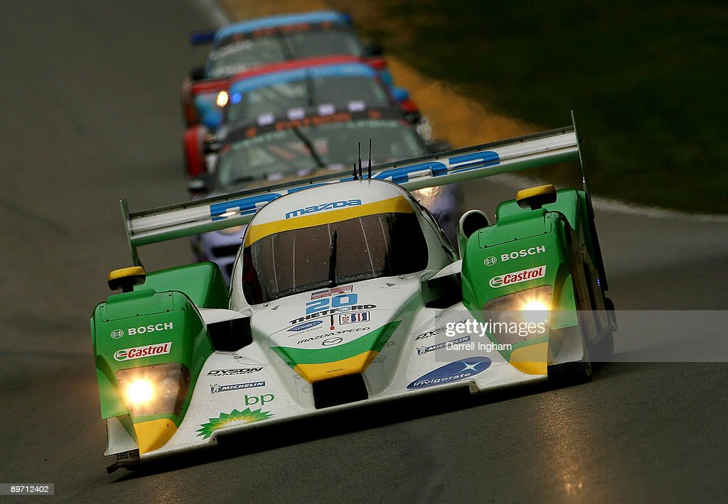 Marino Franchitti Drives The #20 LMP2 Dyson Racing Lola B09 Mazda During  The American Le