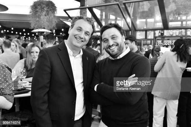 Marino Monferrato and Nicola Farinetti attend Terra Grand Opening at Eataly Los Angeles at Eataly LA on March 28, 2018 in Los Angeles, California.