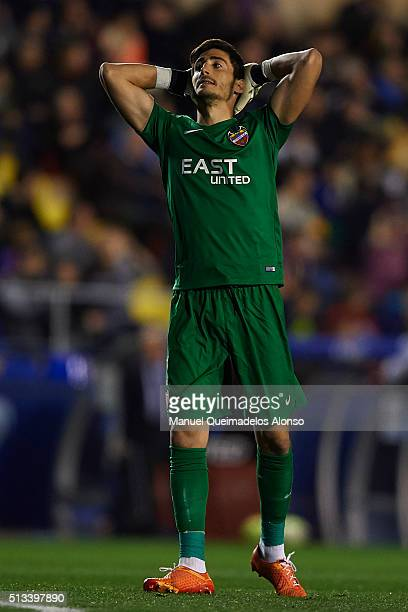 Marino of Real Madrid reacts during the La Liga match between Levante UD and Real Madrid at Ciutat de Valencia on March 02 2016 in Valencia Spain