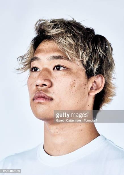 Marino Sato of Japan and Trident poses for a photo prior to Round 5 of the Formula 2 Championship at Silverstone on August 06, 2020 in Northampton,...