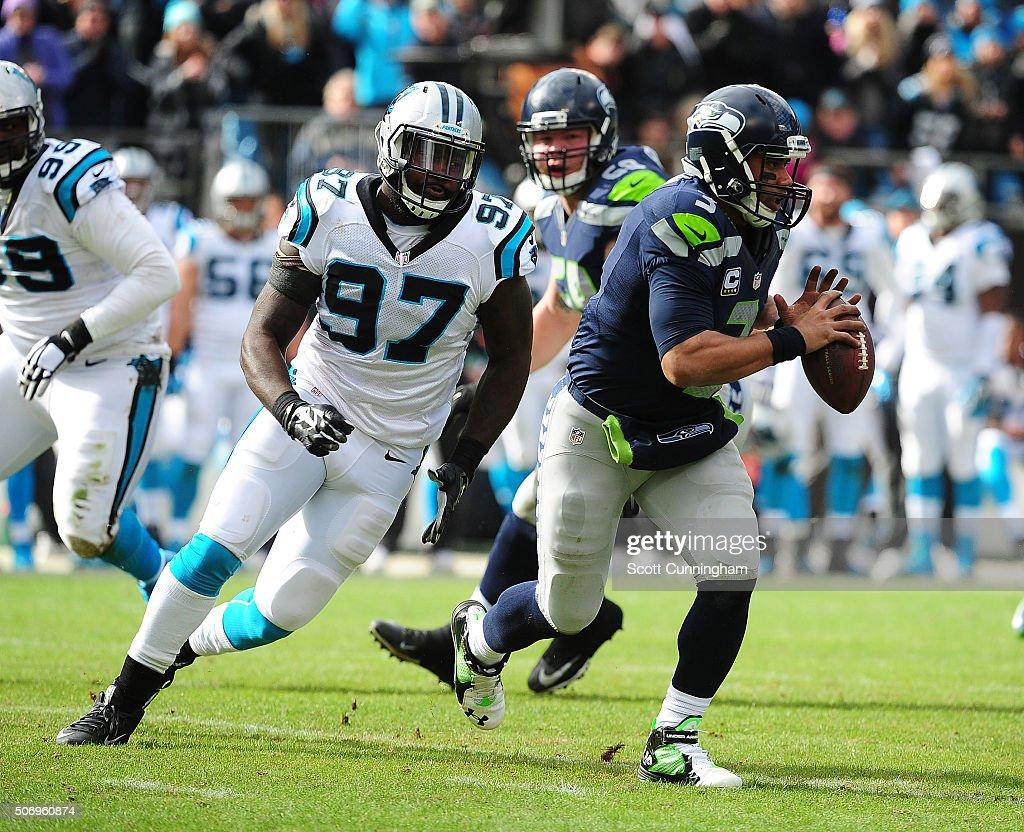 Divisional Round - Seattle Seahawks v Carolina Panthers : Nachrichtenfoto