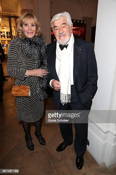 Mario Adorf and his wife Monique Adorf during the Semper Opera Ball 2016 reception at Taschenbergpalais Kempinski on January 29 2016 in Dresden...