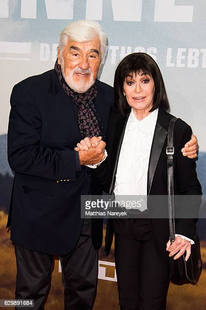 Mario Adorf and Marie Versini attend the 'Winnetou Eine neue Welt' premiere at Delphi on December 14 2016 in Berlin Germany