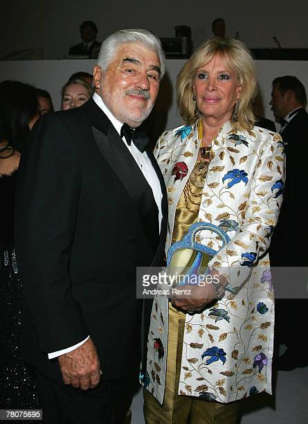 Mario Adorf and wife Monique Faye Adorf attend the annual German media ball 'Bundespresseball' on November 23 2007 in Berlin Germany