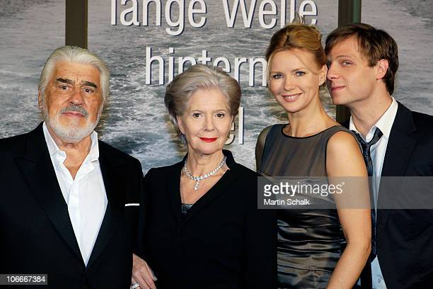 Mario Adorf Christiane Hoerbiger Veronica Ferres and Christoph Letkowski attend the 'Die Lange Welle Hinterm Kiel' Photocall at the Filmstadt Wien on...