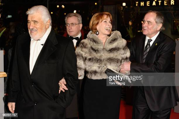 Mario Adorf Senta Berger and Michael Veroven attend the 'Tuan Yuan' Premiere during day one of the 60th Berlin International Film Festival at the...