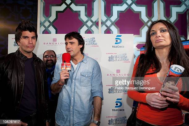 Mario Alberto Robles and Yola Berrocal argue in front of Salvame reporter during 'Salvame' Magazine presentation at Sala Bangaloo on January 24 2011...