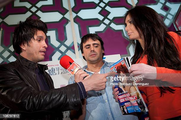 Mario Alberto Robles argue with Yola Berrocal in front of Salvame reporter during 'Salvame' Magazine presentation at Sala Bangaloo on January 24 2011...
