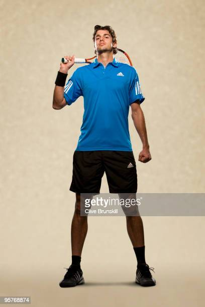 Mario Ancic of Croatia poses for a portrait session while attending the BNP Paribas Open on March 01 2009 at the Indian Wells Tennis Garden in Indian...