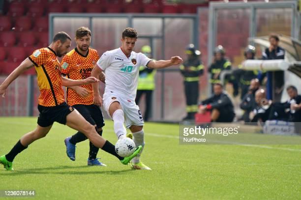 Mario and Artur Ionita during the Italian Football Championship League BKT Benevento Calcio vs Cosenza Calcio on October 23, 2021 at the Stadio Ciro...
