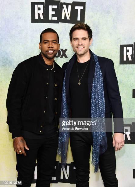 Mario and Brennin Hunt attend Fox's 'Rent' press junket at the Fox Studio Lot on January 08 2019 in Century City California