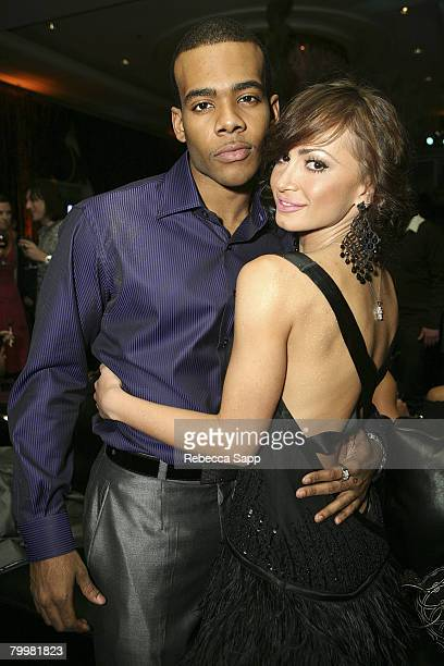 Mario and Karina Smirnoff at MercedesBenz Oscar Viewing Party at the Four Seasons on February 24 2008 in Beverly Hills California