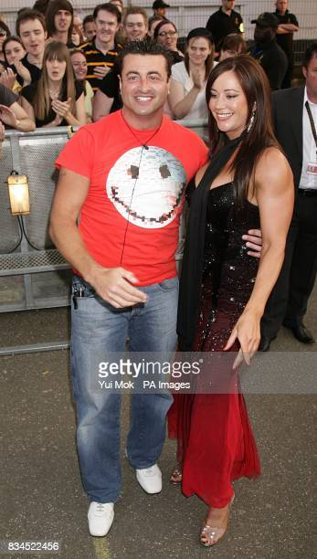 Mario and Lisa Appleton arrive to enter the Big Brother house at Elstree Studios Borehamwood Hertfordshire