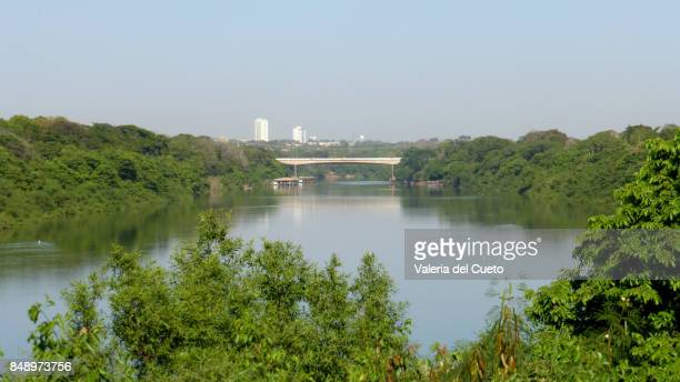 mario andreazza bridge on cuiabá river - cuiaba river stock pictures, royalty-free photos & images