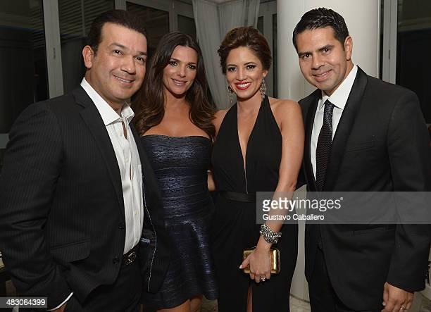 Mario Andres Moreno Barbara Bermudo Pamela Silva and Cesar Conde attend the Haute Living Honors Mark And Rhea Burnett At Fontainbleau Miami Beach at...