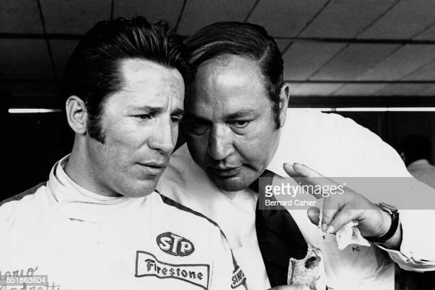 Mario Andretti, Andy Granatelli, Grand Prix of Spain, Circuito del Jarama, 19 April 1970. Mario Andretti with Andi Granatelli, owner of the...