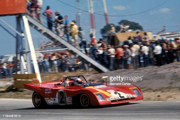 Mario Andretti, Ferrari 312B2, Grand Prix of the United States, Watkins Glen International, 08 October 1972. Mario Andretti on the way to victory in...