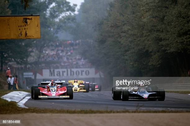 Mario Andretti, Gilles Villeneuve, Lotus-Ford 79, Ferrari 312T3, Grand Prix of Italy, Autodromo Nazionale Monza, 10 September 1978.