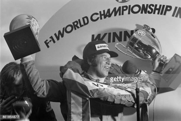 Mario Andretti James Hunt LotusFord 77 McLarenFord M23 OR McLarenFord M26 Grand Prix of Japan Fuji Speedway 24 October 1976