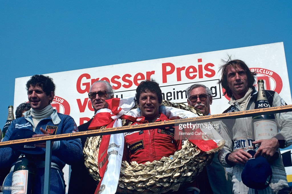 Mario Andretti, Jody Scheckter, Jacques Laffite, Grand Prix Of Germany : News Photo