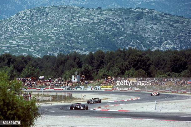 Mario Andretti, Ronnie Peterson, James Hunt, Lotus-Ford 79, McLaren-Ford M26, Grand Prix of France, Circuit Paul Ricard, 02 July 1978.