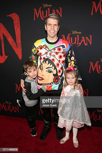 Mario Armando Lavandeira III Perez Hilton and Mia Alma Lavandeira attend the World Premiere of Disney's 'MULAN' at the Dolby Theatre on March 09 2020...
