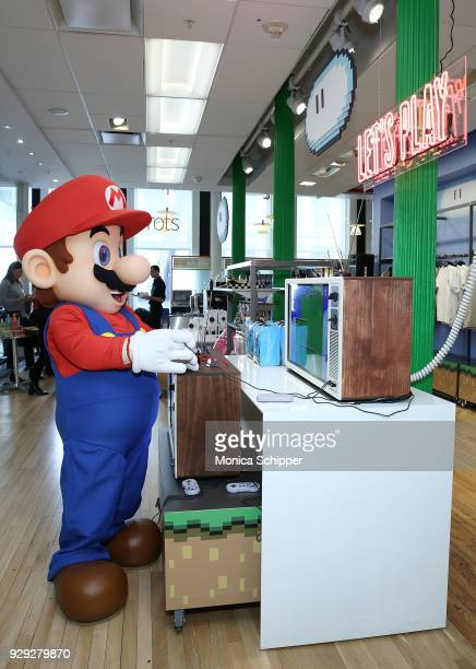 Mario attends the Bloomingdale's launch of an exclusive collection with Nintendo on March 8 2018 in New York City