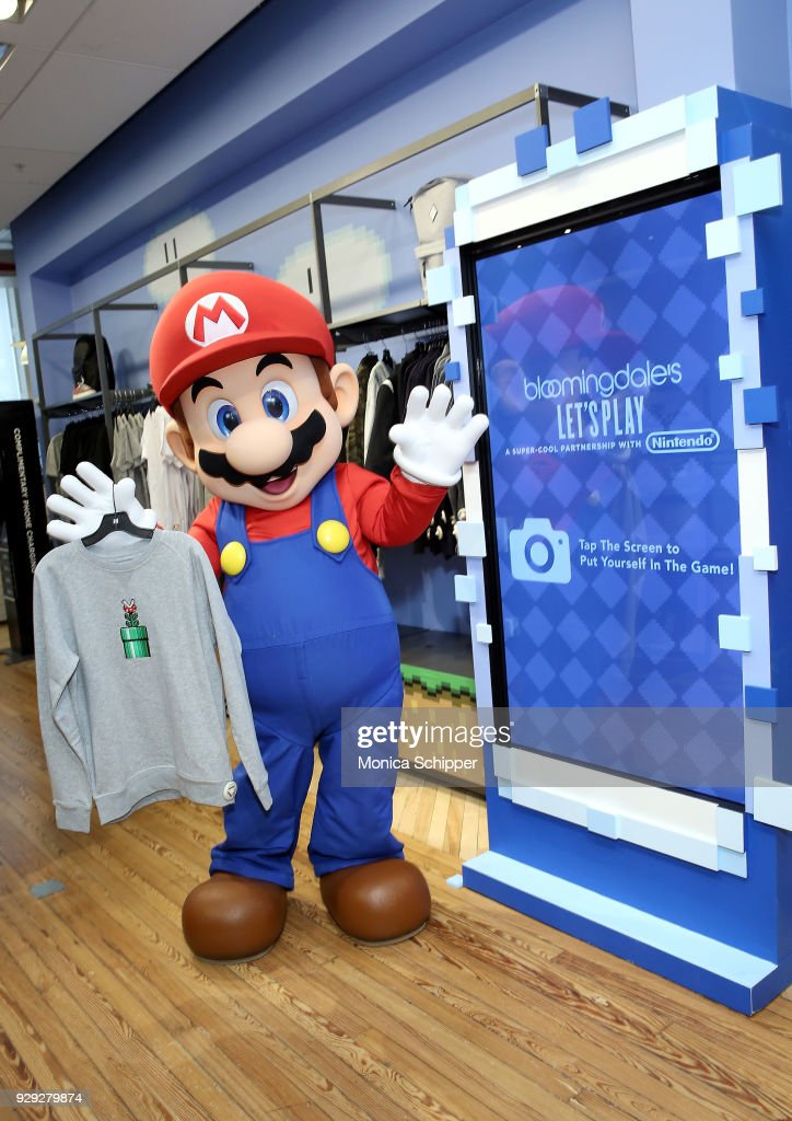 0df7262bcb Bloomingdale's Launches An Exclusive Collection With Nintendo :  Nachrichtenfoto